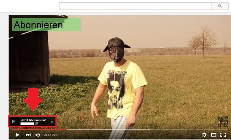 youtube-video-bewerben: Beispiel fuer eine Overlay-Anzeige