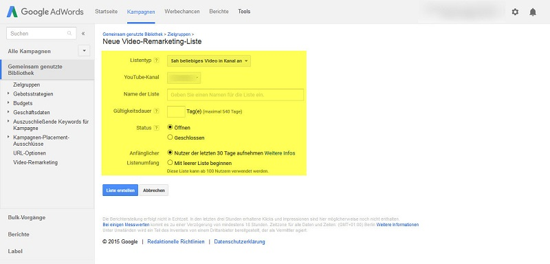youtube-video-remarketing-neue-liste