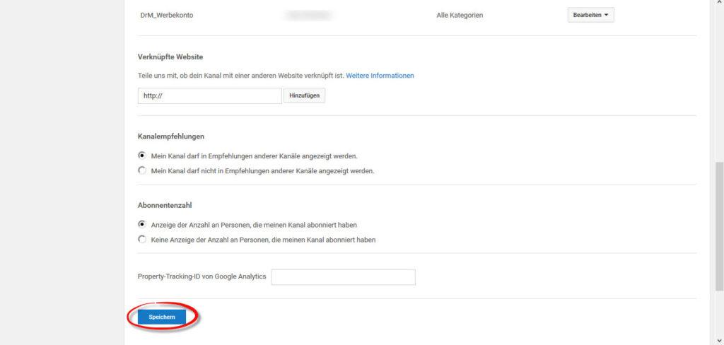 google-adwords-youtube-verbinden-erweiterte-kontoinformationen-speichern