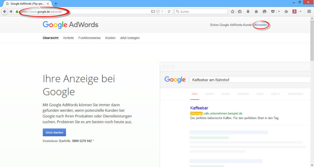 google_adwords_anmeldung