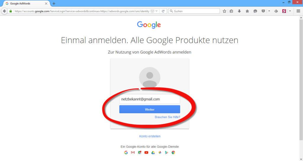 google_adwords_benutzernamen-eingeben