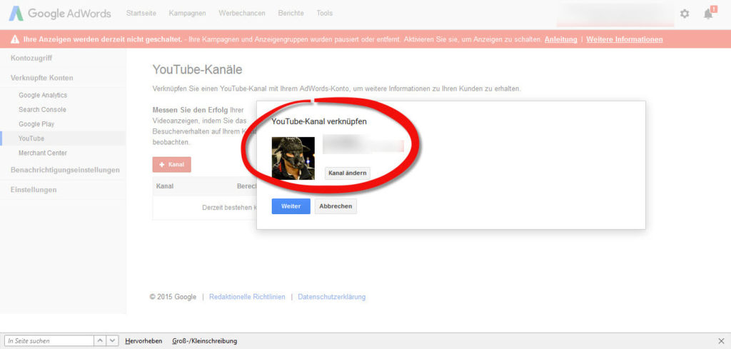 youtube-kanal-adwords-verbinden