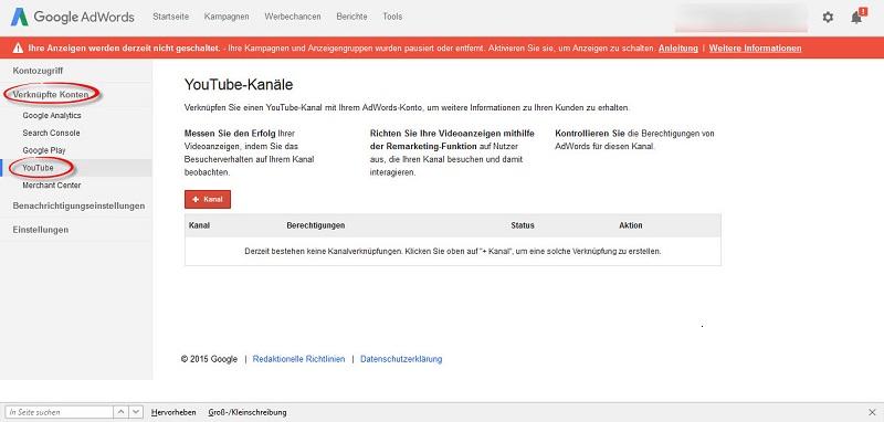 Google_AdWords_Kampagnenuebersicht_Vernuepfte_Konten_YouTube