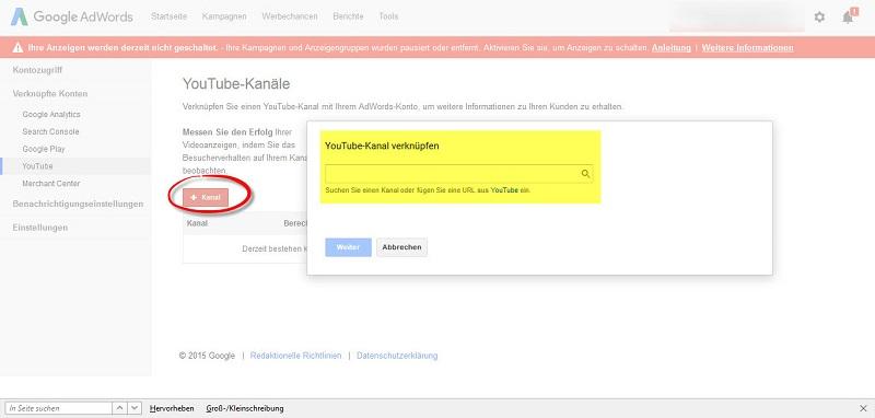 Google_AdWords_Kampagnenuebersicht_auf_Kanal_klicken