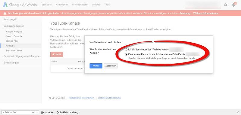 google-adwords-wer-ist-der-inhaber-des-kanals