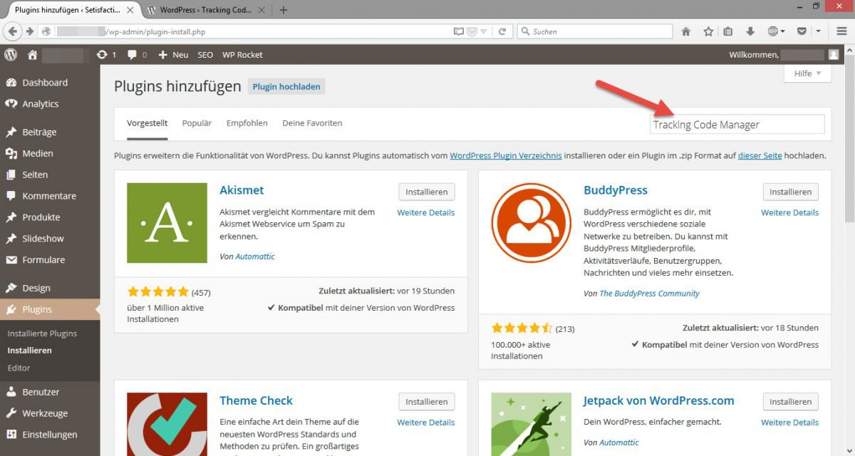 Suche_Tracking_Code_Manager_Plugin_in_Wordpress