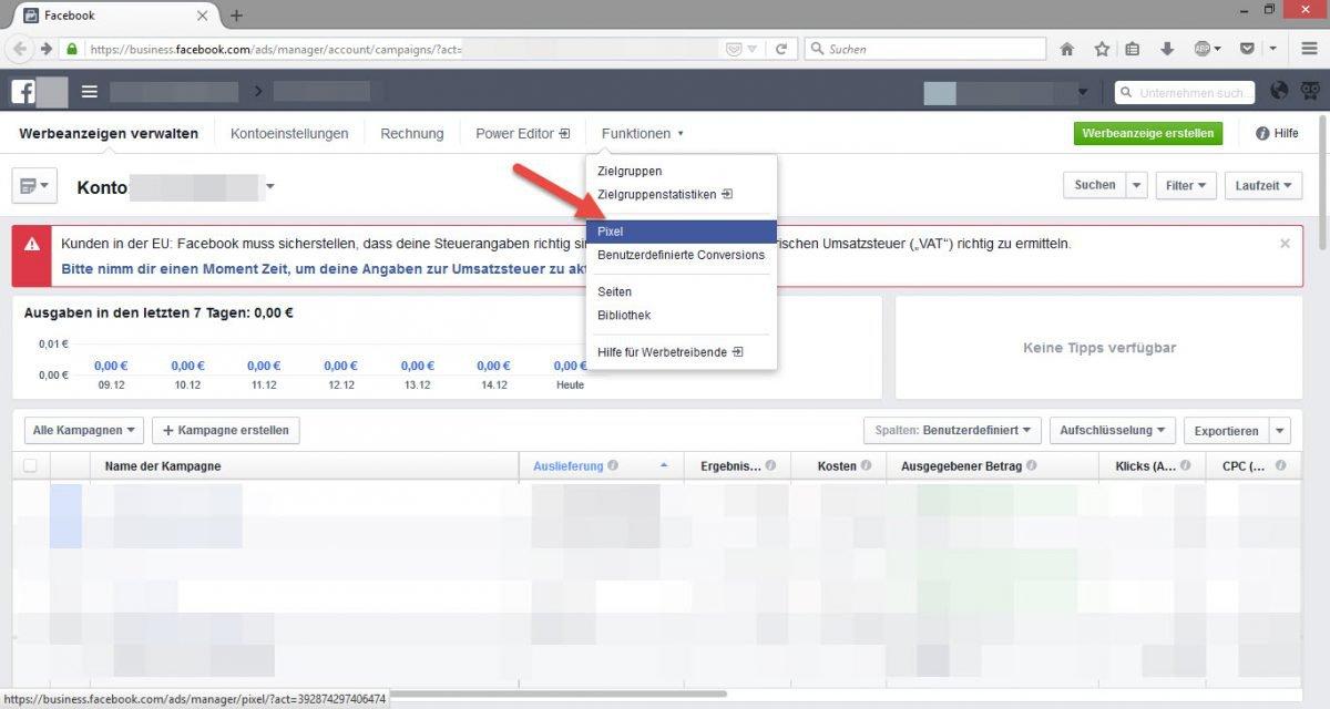 Facebook_Werbung_Pixel_Menue