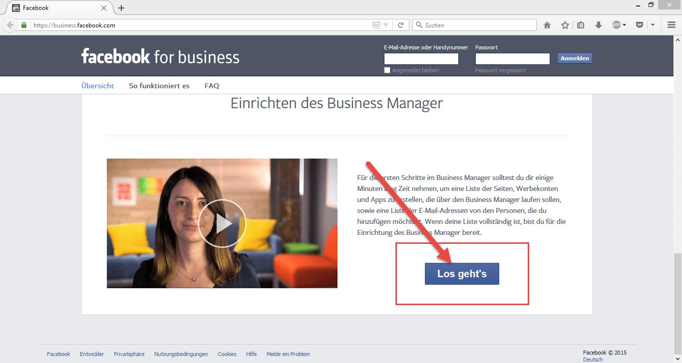 Facebook_Business_Anmelden