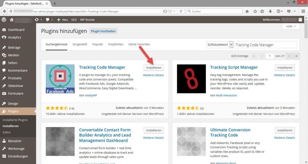 Plugin_Tracking_Code_Manager_in_Wordpress_Installieren