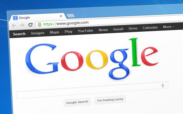 Screenshot Google Logo auf Webseite