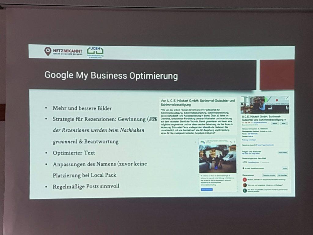 SEO Campixx 2019 Vortrag Google My Business Optimierung